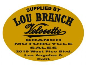 Lou Branch Dealer Decals Transfers DDQ131G